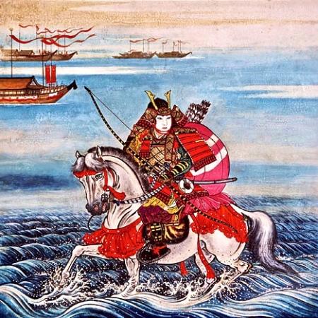 Taira no Atsumori (平敦盛) (1169-1184)   Famoso per la sua prematura morte, a 16 anni, nella battaglia di Ichi-no-Tania. Era abilissimo nel suonare il flauto.