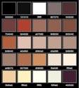 La Palettes dei colori di Caravaggio